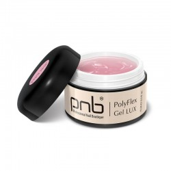 УВ/ЛЕД Поли гел PNB Лукс, прозрачно-розов 15 мл/ UV/LED PolyFlex Gel LUX, Cool Pink 15 ml